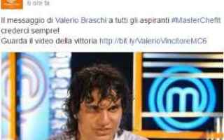 Televisione: masterchef  valerio  vincitore  italia
