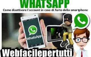 App: whatsapp disattivare account