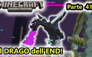 Mobile games: minecraft  minecraftpe  drago  end