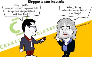 Satira: grillo  satira  blog  sparatrap  news