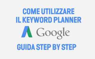 SEO: keyword planner  google  parole chiave