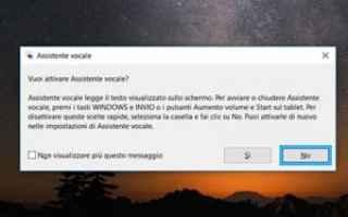 Microsoft: windows  assistente vocale