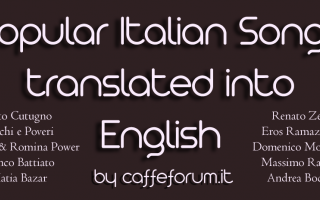 Musica: popular italian songs translations