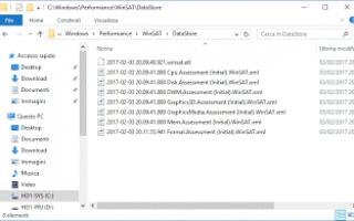 Microsoft: disattivare winsat wei windows-10 benchm
