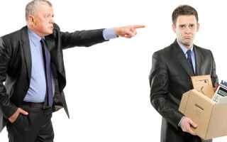 Lavoro: licenziamento  fiducia  datore