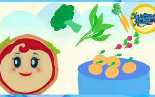 Video: cartoni animati  bambini  cibo sano