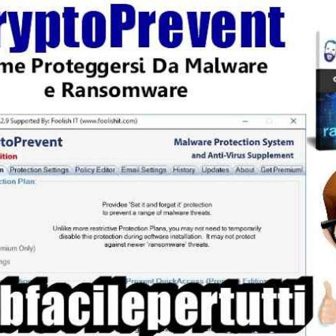 cryptoprevent sicurezza virus