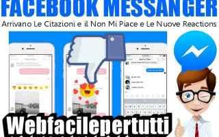 Facebook: facebook messanger novità
