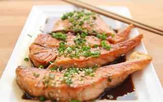 Ricette: salmone  sesamo  miele  ricetta