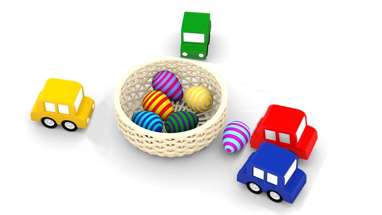 Video macchinine colorate e le uova di pasqua andiamo a