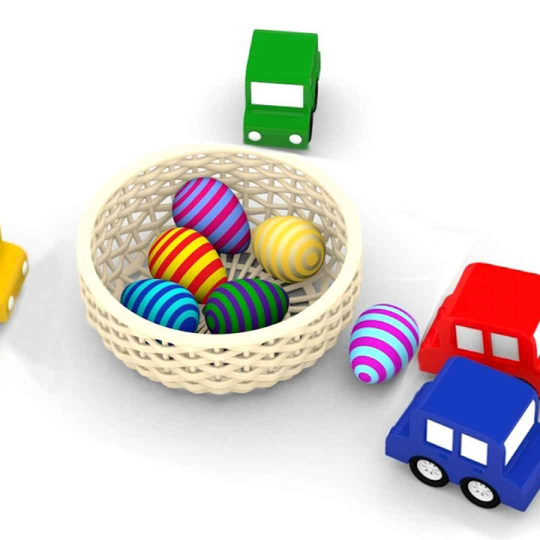 Macchinine colorate e le uova di pasqua andiamo a
