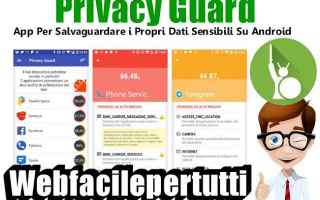 Sicurezza: app  privacy guard  privacy