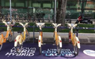 Design: toyota  ibrida  fuorisalone  bikemi