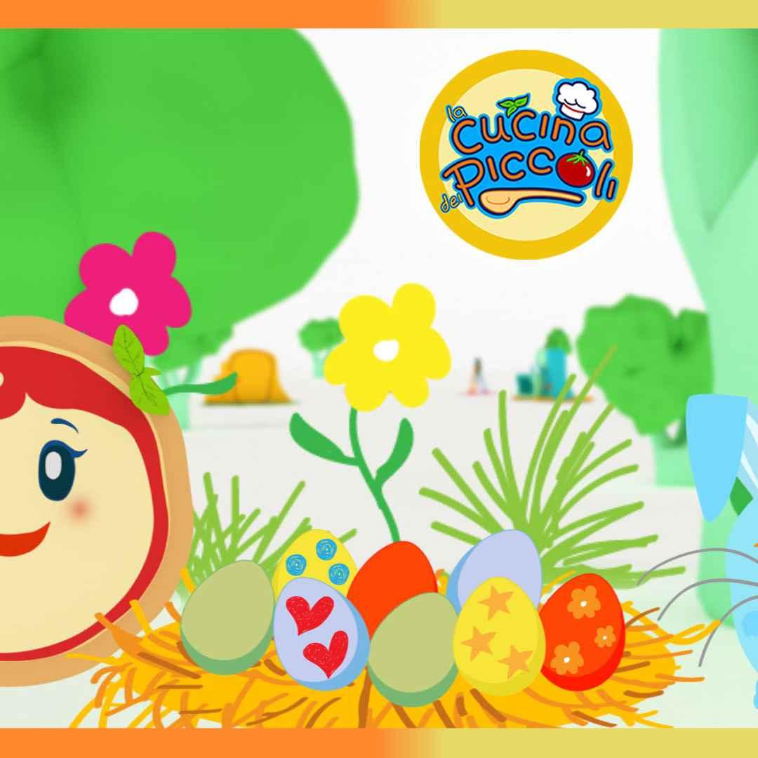 Margherita dipinge le uova di pasqua cartoni animati
