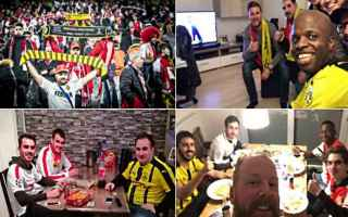 Champions League: borussia dortmund  monaco  tifosi