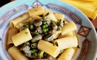 Ricette: pasta  primi  fave  piselli