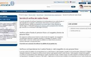 Fisco e Tasse: codice fiscale  agenzia entrate