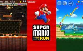 Mobile games: super mario run  gioco gaming