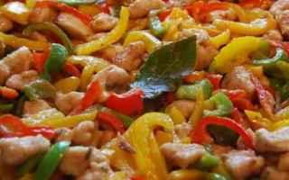 Ricette: cucina  pollo  peperoni