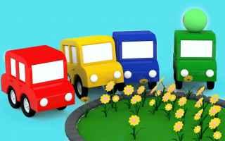 Video divertenti: è primavera! le macchinine colorate piantano i fiori: cartoni animati per bambini