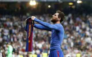 Calcio Estero: messi  barcellona  real  doppietta