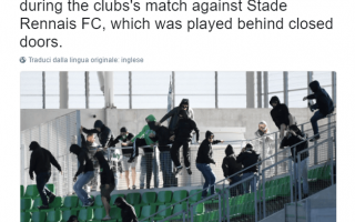 ligue 1  tafferugli