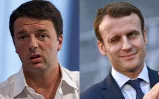 Politica: macron  le pen  renzi  elezioni  francia