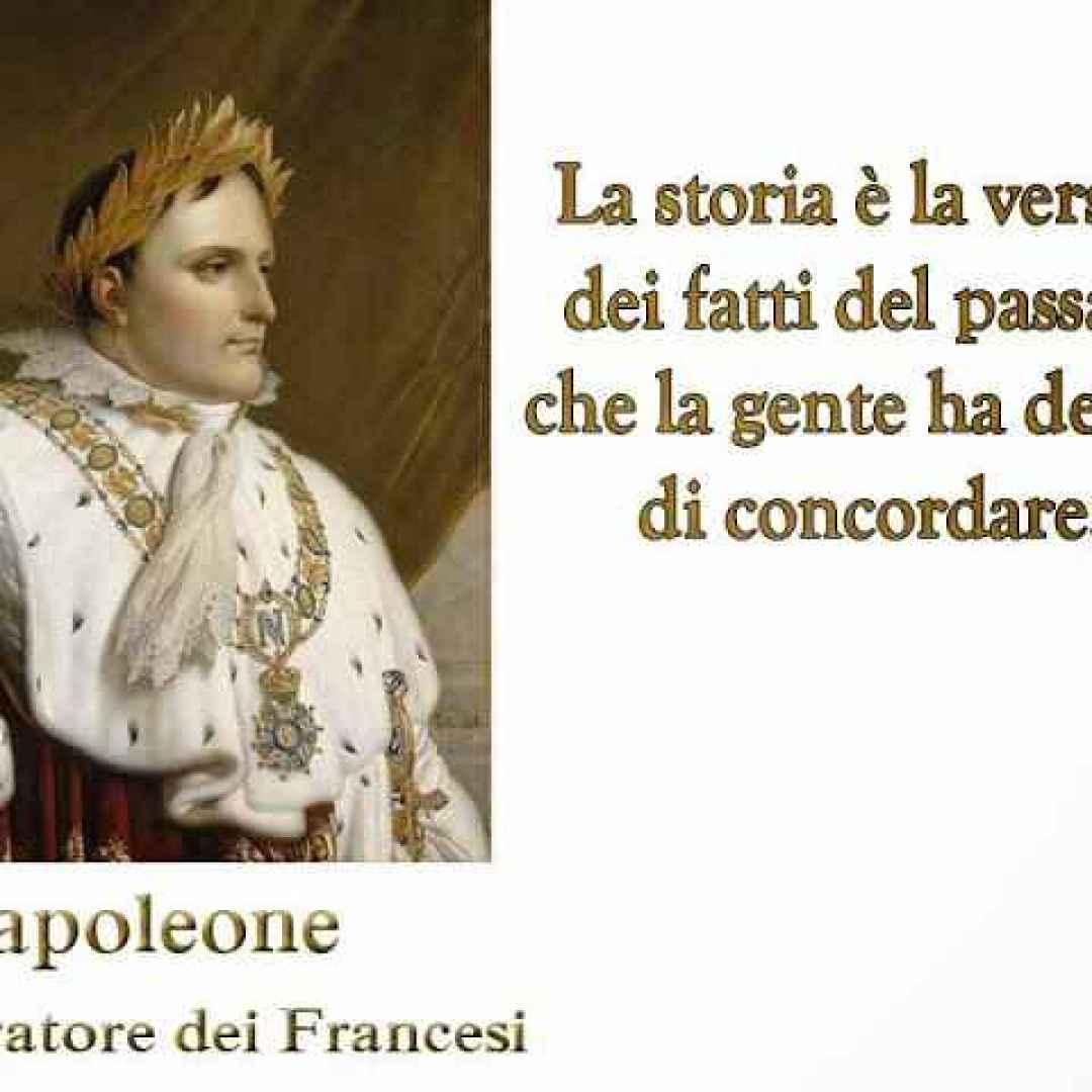 storia  aforismi  napoleone