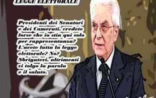 Satira: legge elettorale  sergio mattarella