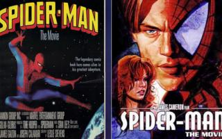 Cinema: spiderman  uomo ragno  film  anni 80