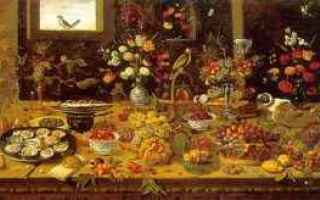 Storia: rinascimento alimentazione italia
