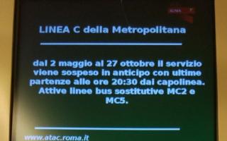 Roma: atac  metro c  trasporto pubblico