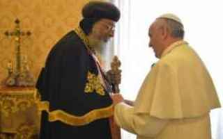 Religione: copti  papa francesco  egitto