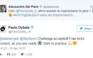 Calcio: del piero  dybala  calcio  juventus  buffon