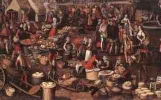 Storia: medioevo mercato botteghe