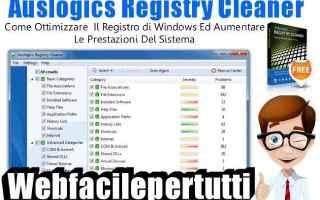 Computer: auslogics registry cleaner pc pulizia pc