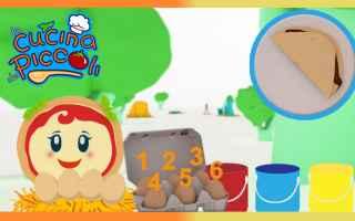Video: cartoni animati  margherita  uova