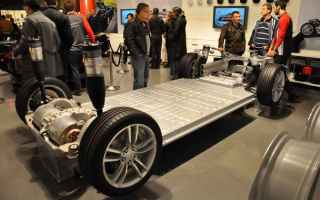 Automobili: batteria tesla tesla model s