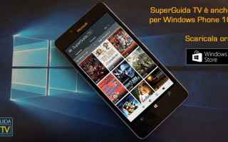 Microsoft: guida tv windows phone windows 10