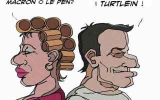 Satira: elezioni francia  macron  le pen