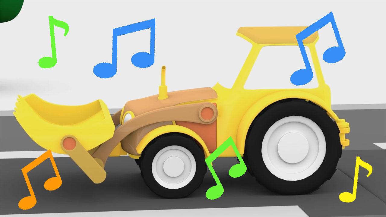 La canzone del trattore giallo cartoni animati per