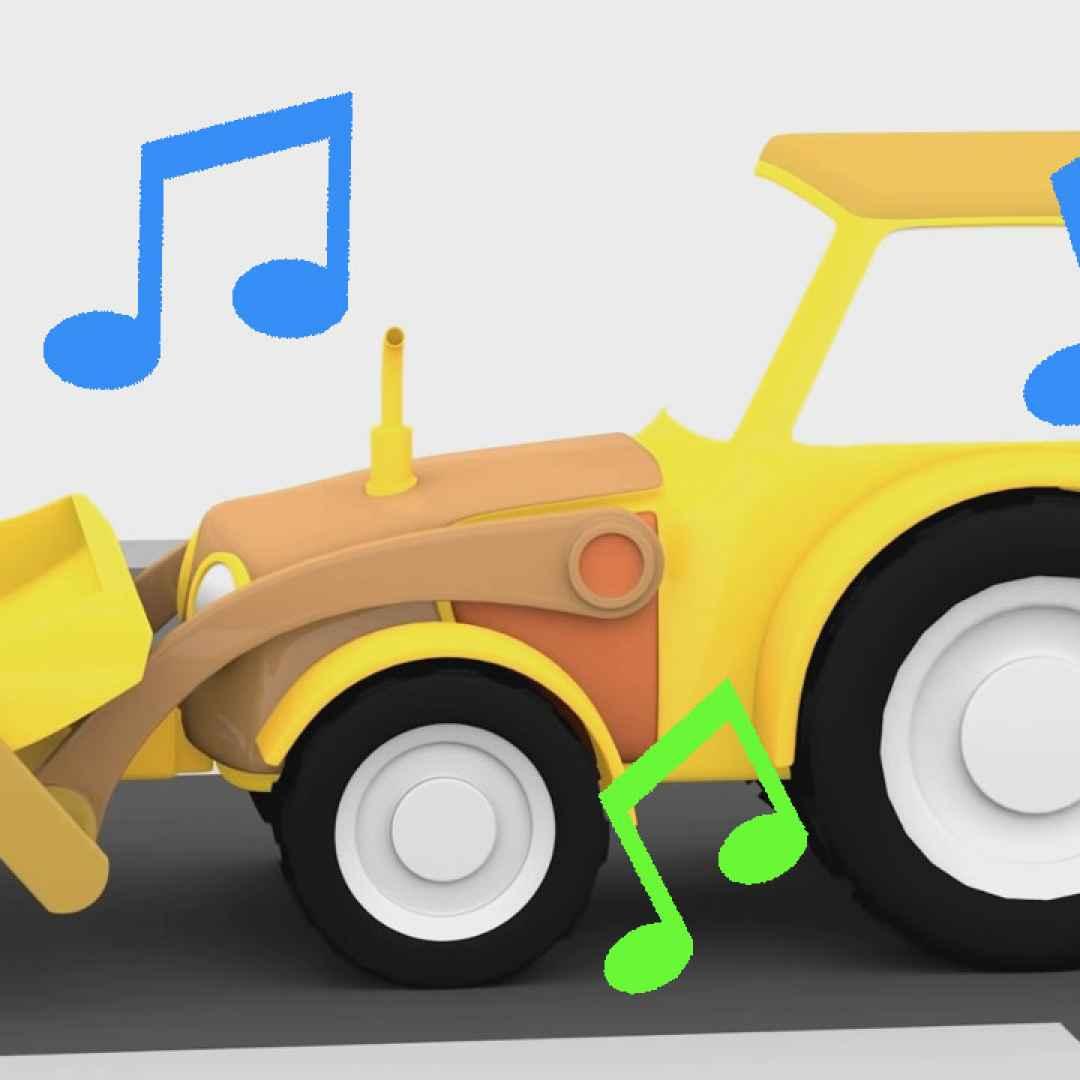 La canzone del trattore giallo! cartoni animati per bambini