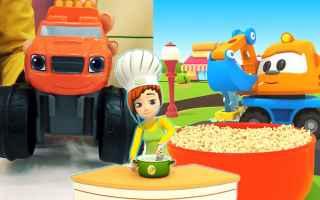 Il cartone dei piccoli lancia un nuovo progetto di di video divertenti per bambini! Macchine e camio