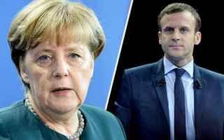 macron  merkel  unione europea