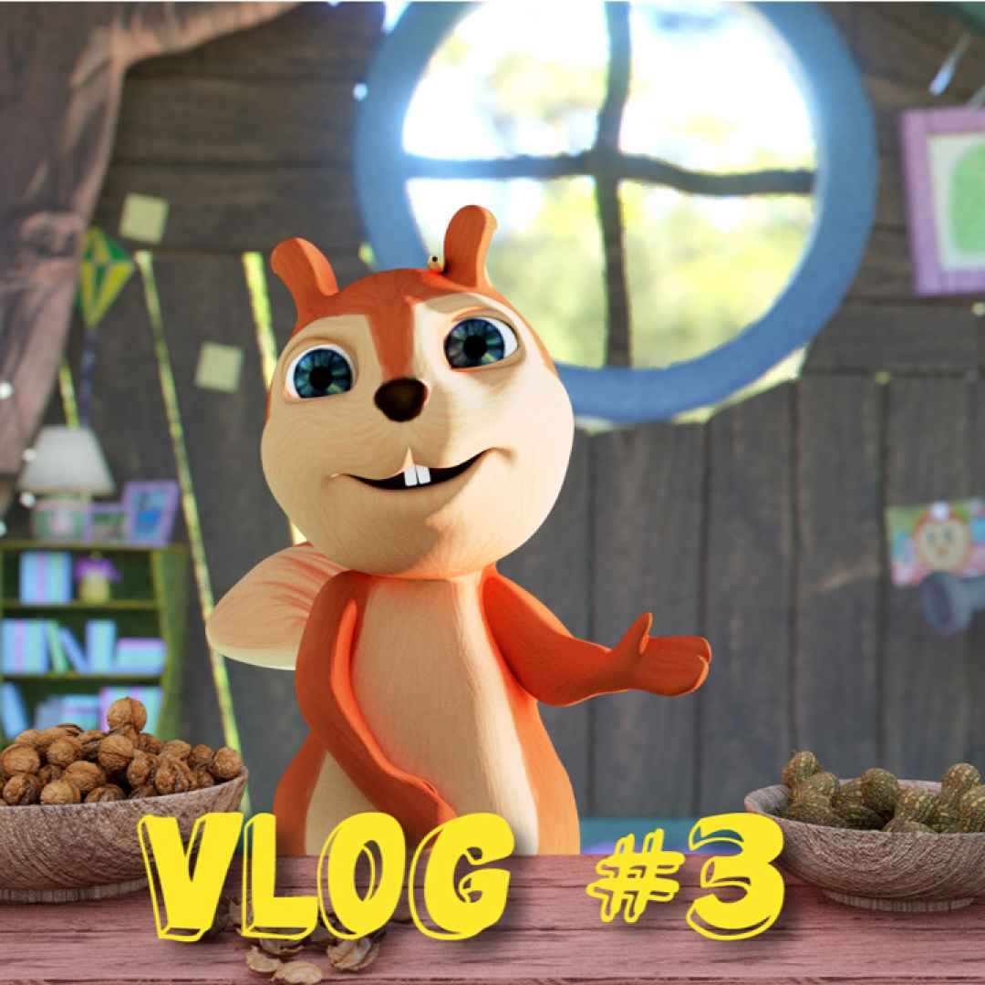 Alice nel bosco! la piccola scoiattolina vlogger! la merenda