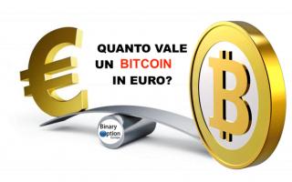 Borsa e Finanza: quanto vale 1 bitcoin in euro  bitcoin
