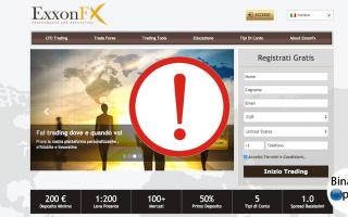 exxonfx truffa  broker forex