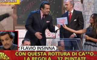 Televisione: flavio insinna  striscia la notizia