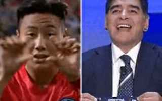 Calcio Estero: maradona  corea del sud  esultanza