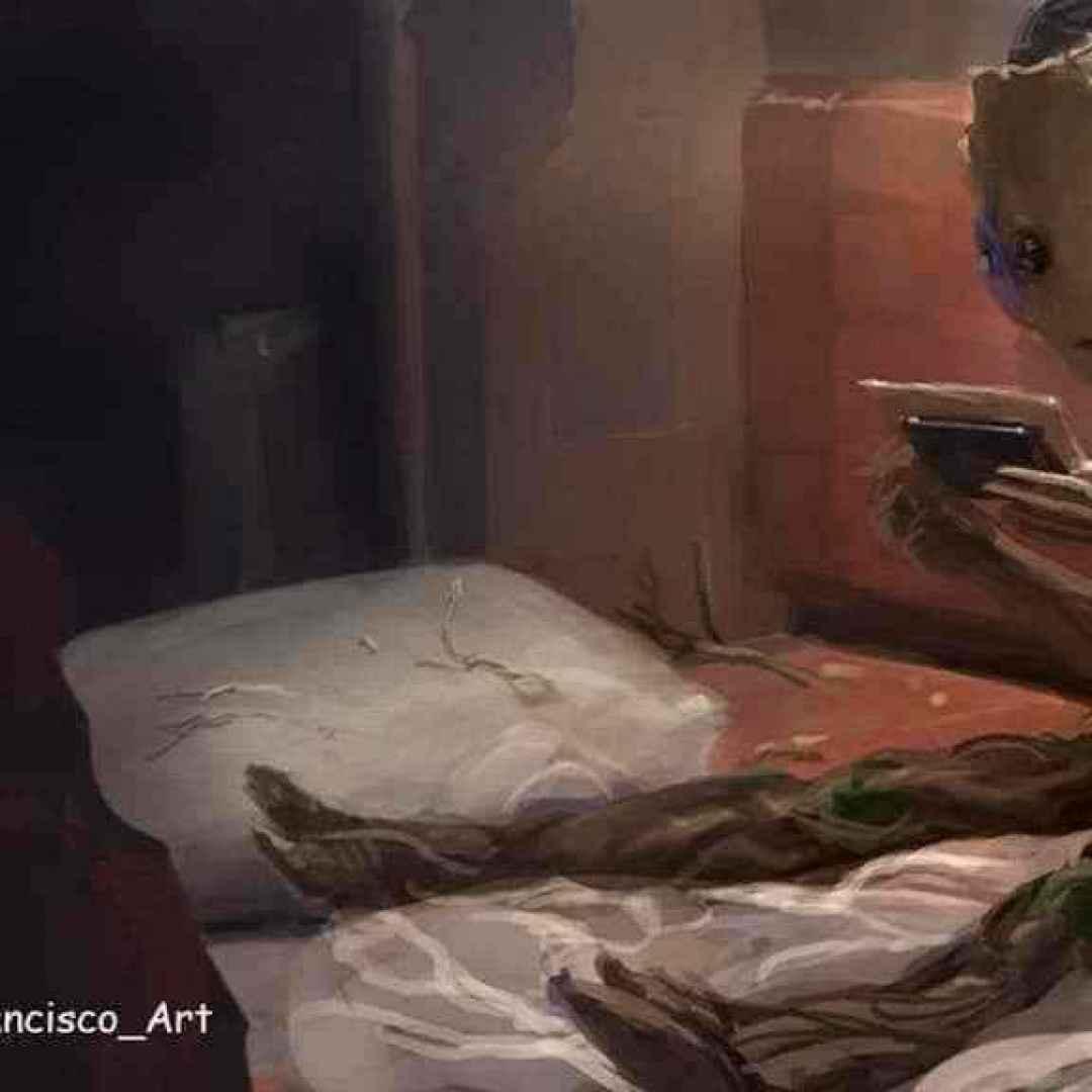 Guardiani della galassia vol2 groot in versione baby e - Film tipo amici di letto ...